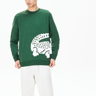 Lacoste Mens Oversize Croc Crew Neck Cotton Sweatshirt