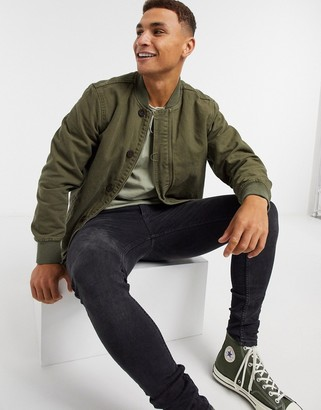 Levi's deck bomber shirt in olive night