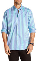 Tommy Bahama Regular Fit Paradise Lounge Striped Long Sleeve Shirt