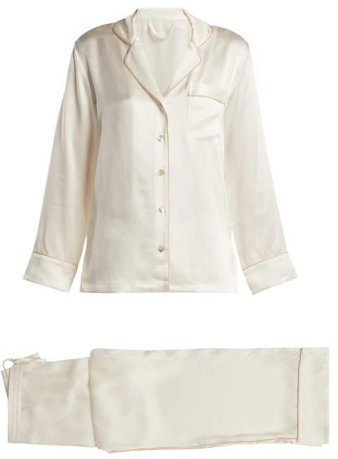 Fleur of England Signature Silk Pyjama Set - Womens - Ivory