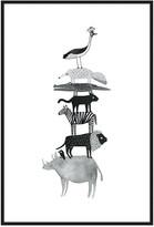 Jonathan Bass Studio Animal Totem No.2, Decorative Framed Hand Embellis
