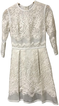 Elie Saab Ecru Lace Dress for Women