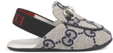 Thumbnail for your product : Gucci Baby Princetown GG canvas slipper