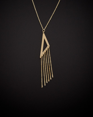 Italian Gold 14K Triangle Tassel Necklace