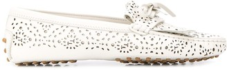 Tod's Perforated Driving Loafers