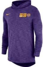 Nike Lsu Tigers Men's Slub Sideline Hooded Long Sleeve T-Shirt