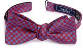The Tie Bar Men's Commix Check Silk Bow Tie