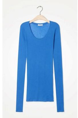 American Vintage Lagoon Massachusetts Long Sleeve Round Neck Women T Shirt - large