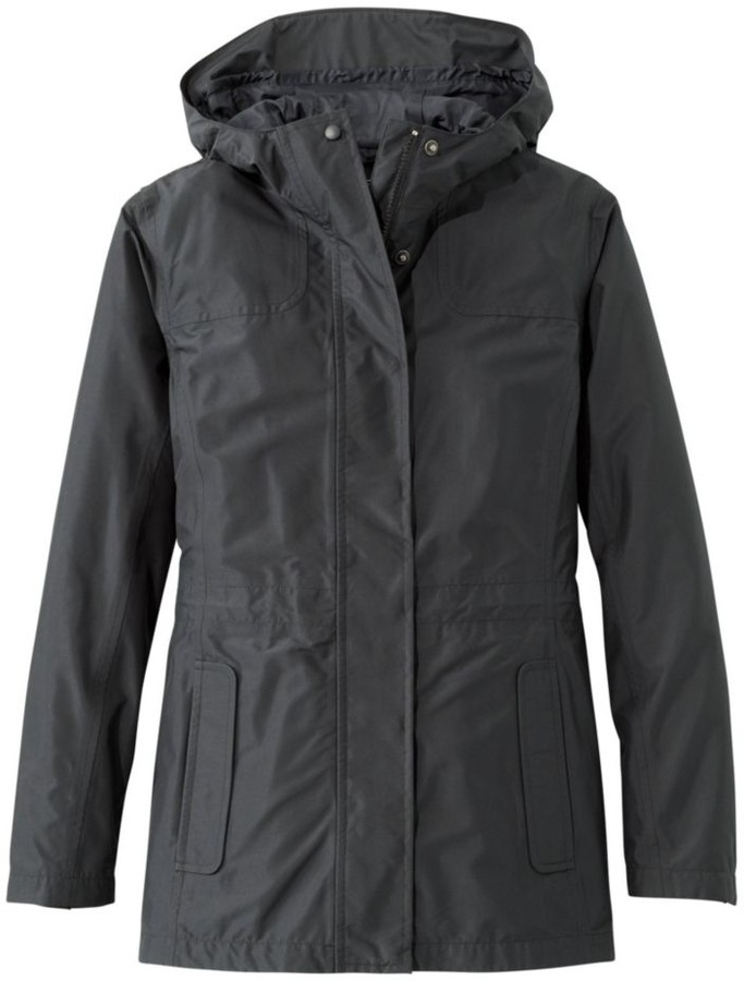 L.L.Bean Women`s H2OFF Rain Jacket- Mesh-Lined