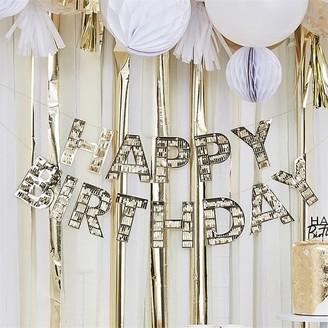 Ginger Ray Gold Fringe Happy Birthday Bunting