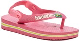 Sole Society Baby Brazil Logo solid flip flop