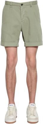 Ami Alexandre Mattiussi Cotton Gabardine Shorts