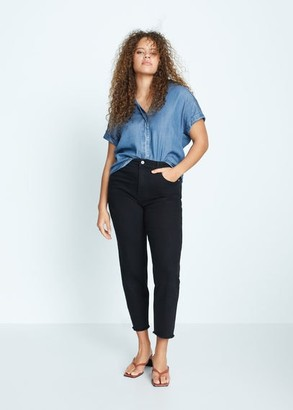 MANGO Denim lyocell shirt