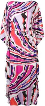 Emilio Pucci Burle Print Belted Maxi Dress