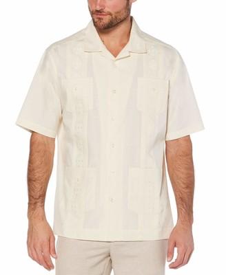 Cubavera Camp Collar Cotton-Blend Guayabera Shirt
