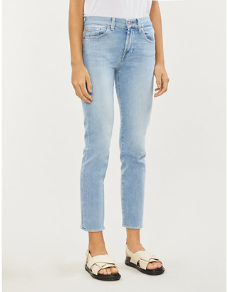 7 For All Mankind Roxanne Ankle cropped slim-leg mid-rise jeans
