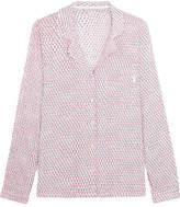 Calvin Klein Underwear Printed Voile Pajama Shirt - Pastel pink