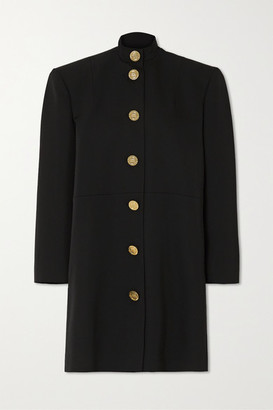 Balenciaga Oversized Wool Mini Dress - Black