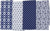 DESIGN IMPORTS Design Imports Blue Market Set of 4 Assorted Kitchen Towels