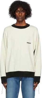Ambush Off-White and Black Mix Sweatshirt