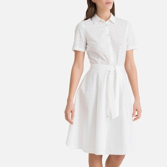 La Redoute Collections Broderie Anglaise Cotton Shirt Dress