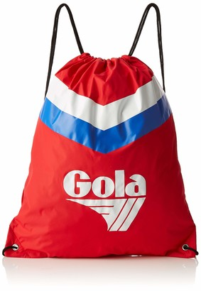 Gola Unisex-Adult Hicks Chevron Canvas and Beach Tote Bag Red (Red/Reflex Blue/White)