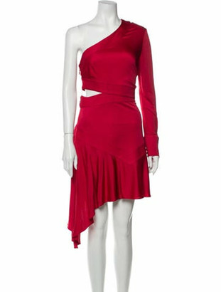 Alexis One-Shoulder Mini Dress Red
