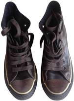 Converse Brown Leather Trainers