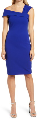 Vince Camuto Asymmetrical Neck Cocktail Dress