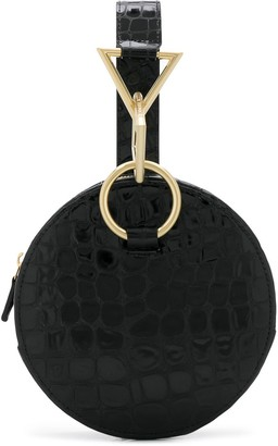 Tara Zadeh Croc Effect Embossed Circle Bag