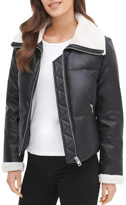 Levi's Faux Leather & Faux Shearling Quilted Jacket
