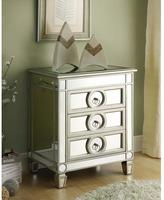 Monarch Specialties 3-Drawer Mirrored Accent Table