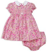 Little Me Infant Girls' Smocked Liberty of London Floral Dress and Bloomer Set - Baby
