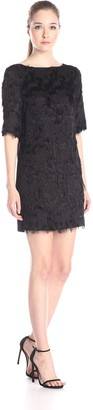 Nicole Miller Women's Flutter Burnout Shift Dress