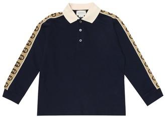 Gucci Kids Stretch-cotton polo shirt