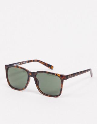 A. J. Morgan AJ Morgan Borgnine oversized sunglasses in matte tortoiseshell