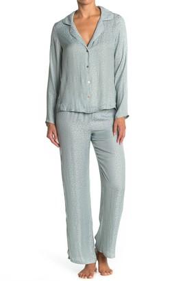 Midnight Bakery Animal Print Crop Pant Pajama 2-Piece Set