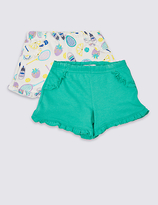 Marks and Spencer 2 Pack Cotton Rich Shorts (3 Months - 5 Years)