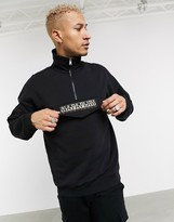 Napapijri Base half zip sweatshirt in black