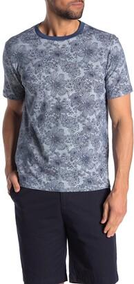 Original Penguin Chambray Floral Print T-Shirt