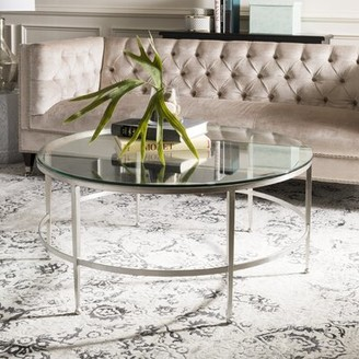 Safavieh Couture Carlin Coffee Table Table Base Color: Silver