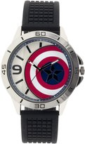 Marvel Boy's Quartz Plastic Casual Watch, Color:Black (Model: CAP3AQ16021)