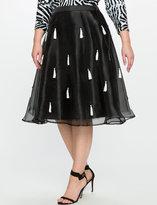 ELOQUII Plus Size Tassel Midi Skirt