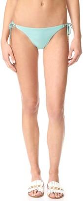 Vix Women's Solid Foam Long Tie Side Full Coverage Bikini Bottom