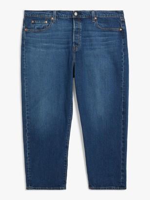 Levi's Plus 501 Cropped Jeans, Blue