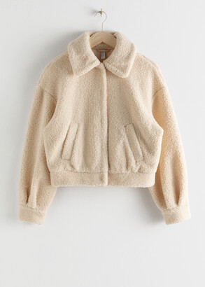 And other stories Faux Shearling Teddy Jacket
