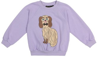 Mini Rodini Dashing dog cotton-jersey sweatshirt