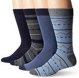 Lucky Brand Lucky Men's 4 Pair Pack Native Geo Crew Socks