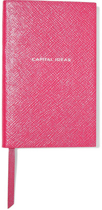 Smythson Capital Ideas Panama Printed Textured-leather Notebook