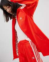 adidas Track Jacket In Red And Pink